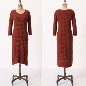 Anthropologie Sparrow Cabled Heavens Sweater Dress